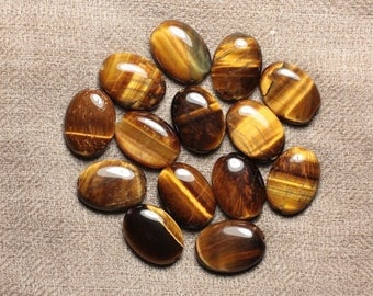 Stone - 1pc - bead 4558550032393 18x13mm oval Tiger eye