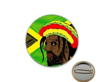 Rastaman badge - Badge reggae Ø25mm pin