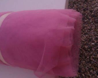 soft tulle pink cyclamen width 150 cm