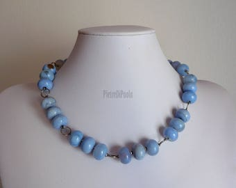 Choker Necklace in Chalcedony