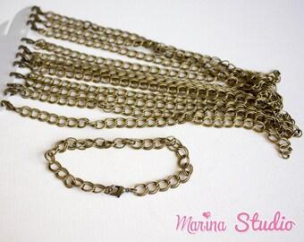 2 bronze charms bracelets