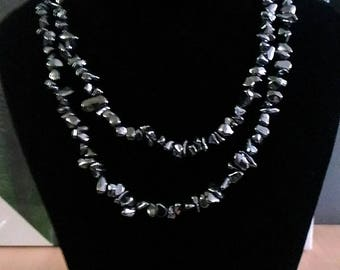 necklaces nice lady in black Hematite