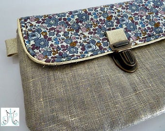 Case clasp gold - Liberty Betsy Ann gray linen
