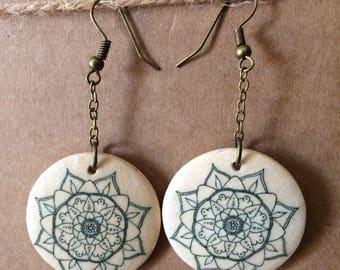 Mandala earrings 6
