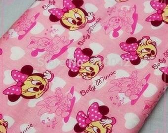 Minnie pink 50cmx50cm design fabric