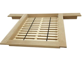Platform Bed, Queen Platform Bed, Oak Platform Bed, Floating Bed, Loft Bed, Low Profile Bed, Bed With Night Tables