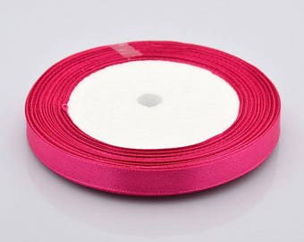 6 metres of Rose madder 10 mm Satin Ribbon