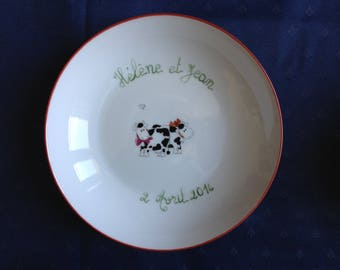 A personalized gift for lovers: the plate in the first names and date of event