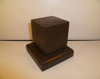 Made with beech and oak schc17 for figurines square wood base