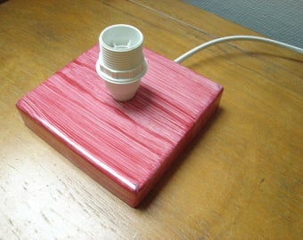 Red and white lamp base stand