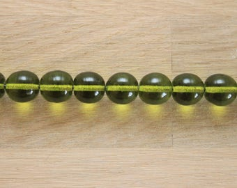 1 glass bead 9 mm / olive 41