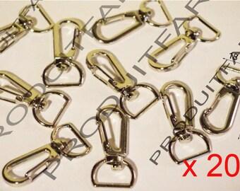 20 lobster clasps swivel Chrome handle Bronze bag Crochet Tote 18 * 37 mm