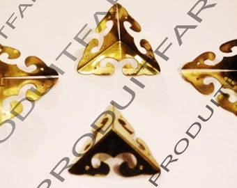 4 protective gold shockproof Angle and embellishment for furniture, box corners chest 31 mm