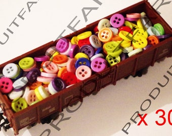 300 button resin 9 mm 4 hole blue red green blue Ros Etc sewing
