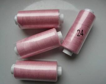 Spool of thread polyester 360 m pink blush