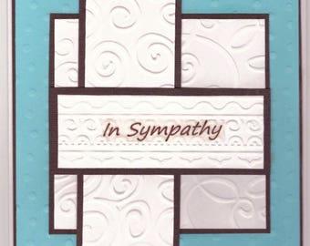 Sympathy Card - Embossed