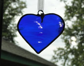 Stained Glass Heart Suncatcher, & Key
