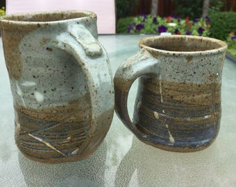 Pair of Ceramic Mugs (Blue Celadon)