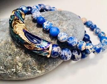 Beautiful Peacock Beaded Bracelet.
