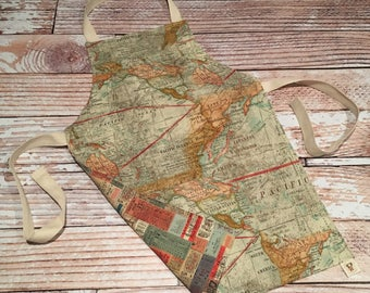 Child Size Apron- Map