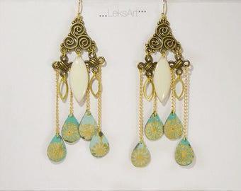 Gold plated. Mononoke 妖怪 Origami earrings
