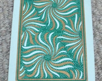 Vintage 1930's Swirls Pattern Art Deco Playing Cards