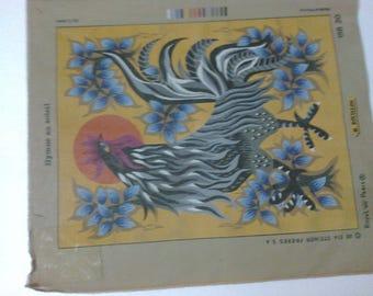 """Canvas embroidery""Hymn in the Sun""II"" 65 x 75 cm """