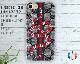 Gucci Snake case Gucci Iphone 6s case Gucci Samsung S8+ case Gucci cover Gucci Iphone 7+ case Gucci case Gucci Galaxy S6 case Red Snake case