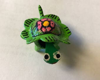 Loose-neck Paper Mache small Turtle hand craft