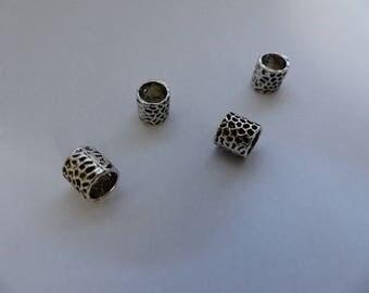 Type European column hollow flower beads