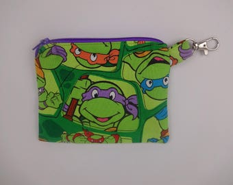 TMNT coin purse zipper pouch change purse