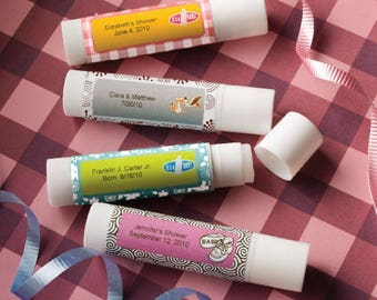 30 Personalized Baby Lip Balm Favors - Set of 30