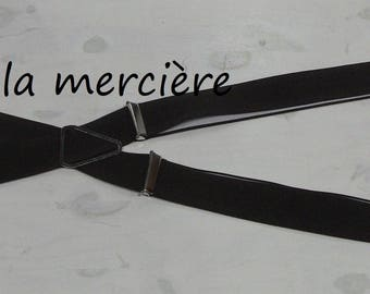 straps for adults, adjustable straps man made in france Burgundy width 3.5 cm