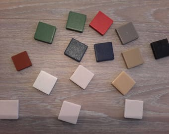 Set of 15 tiles various colors