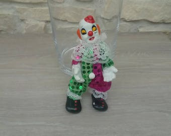 Clown trinket porcelain decoration