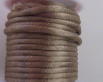 Cord, colored rat tail Gold - 4 meters - diameter 4.0 mm