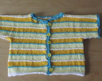 Cardigan open front cotton baby 0/3 months