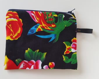Flower print clutch