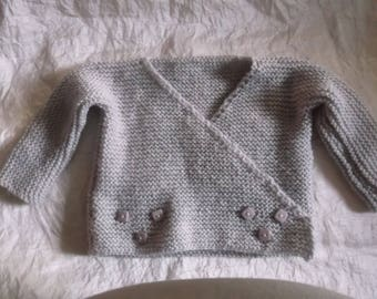 Jacket and knitted baby booties