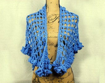 Flirty Periwinkle Blue Wrap/Shawl