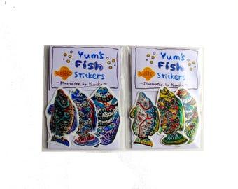 Yum's fish stickers