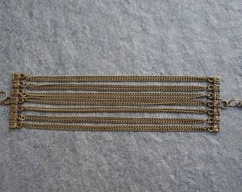 Bronze chains - Inca bracelet