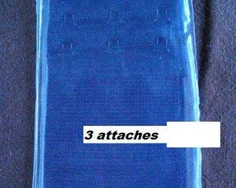 Tie back, 3 black port, 50mm