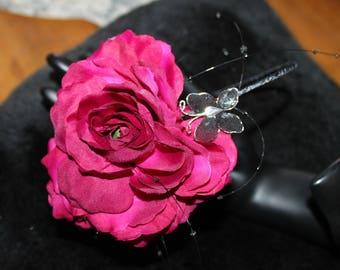 FUCHSIA SILK ROSE