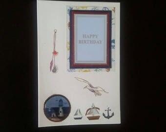 Fishing birthday card blank inside