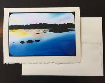 River Scene Greeting Card