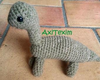 Doudou, plush amigurumi dinosaur brachiosaurus