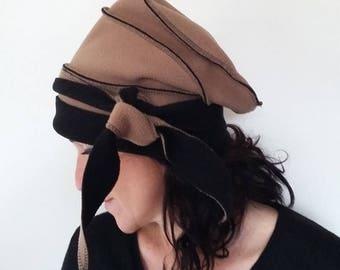 Reversible fleece Hat Black'Camel