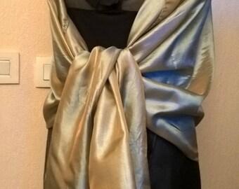 Copper beige wedding shawl