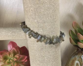 Labradorite Gemstone | Stretch Bracelet | Stacking Bracelet | Boho Bracelet | Crystal Bracelet | Healing Crystal Jewelry